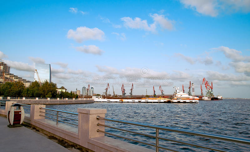 Download Port of Baku stock photo. Image of haven, navigator, handling - 28574114