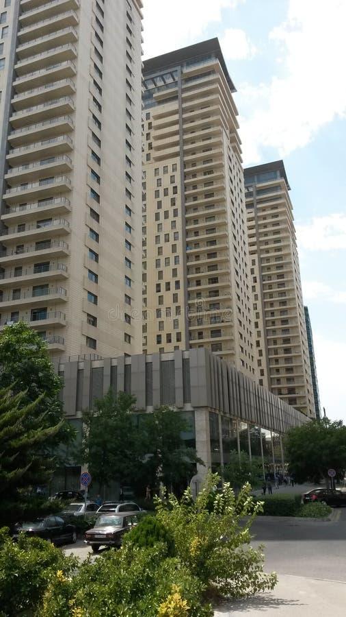 Port baku residence stock photo