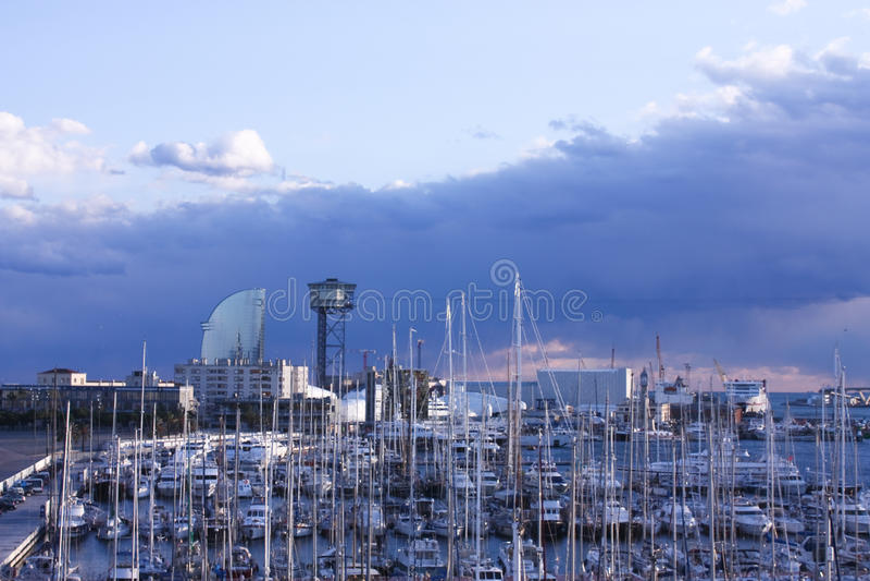 The port of Barcelona stock photos