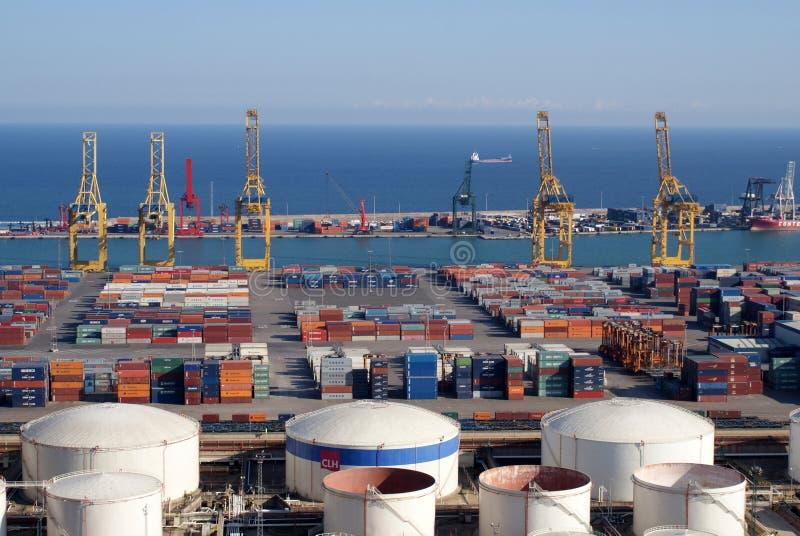 Port of Barcelona stock photography