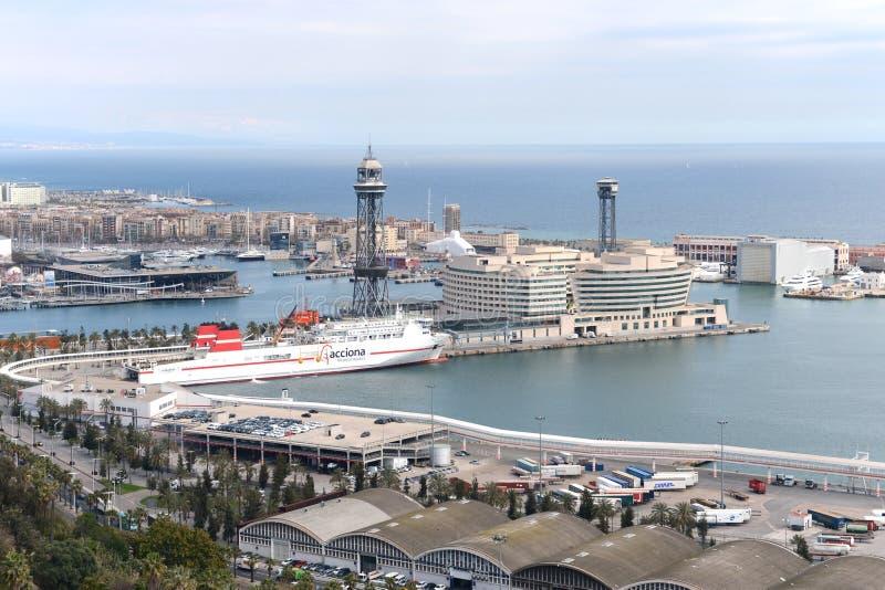 Port Barcelona, Hiszpania obraz stock