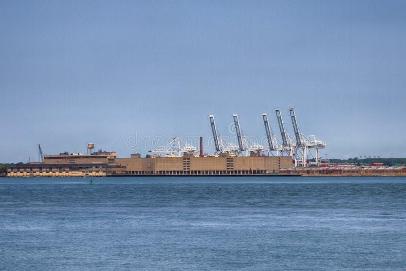 Port Bayonne, NJ royaltyfri foto