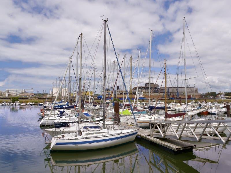 Port Bayonne w Francja zdjęcia stock