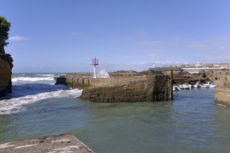 Port Biarritz w Francja obrazy stock