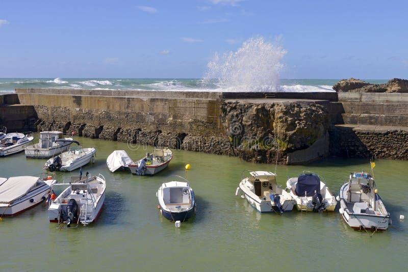 Port Biarritz w Francja zdjęcie royalty free