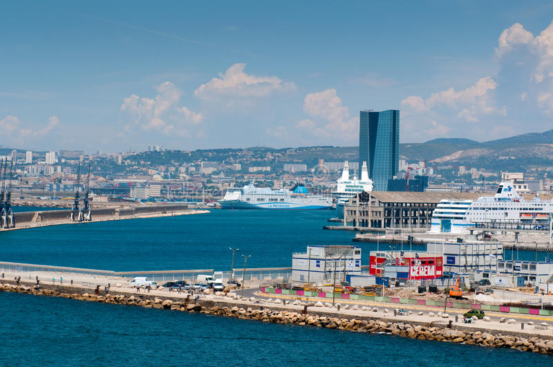 Download Port with big ferries editorial photography. Image of cityscape - 19914572