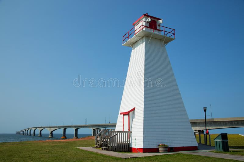 Port Borden Range Front Lighthouse in Prince Edward island royalty free stock images