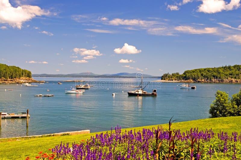 Port côtier du Maine image stock
