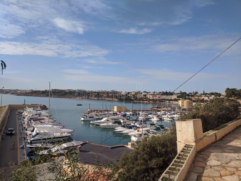 Port at Cabo Roig royalty free stock photos