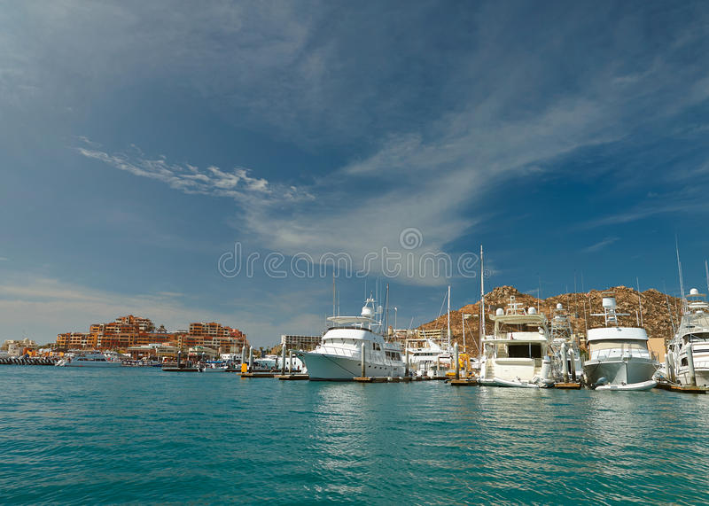 Port in Cabo san lucas royalty free stock photo