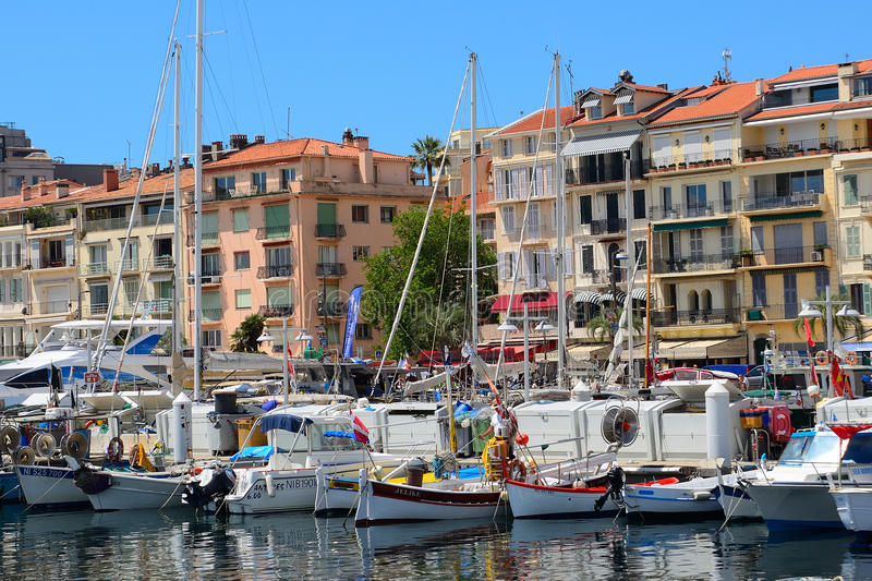 Port, Cannes, Francja obrazy royalty free