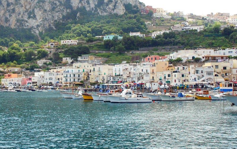 Port of Capri island stock images