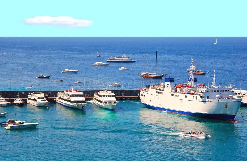 Port of Capri island royalty free stock images