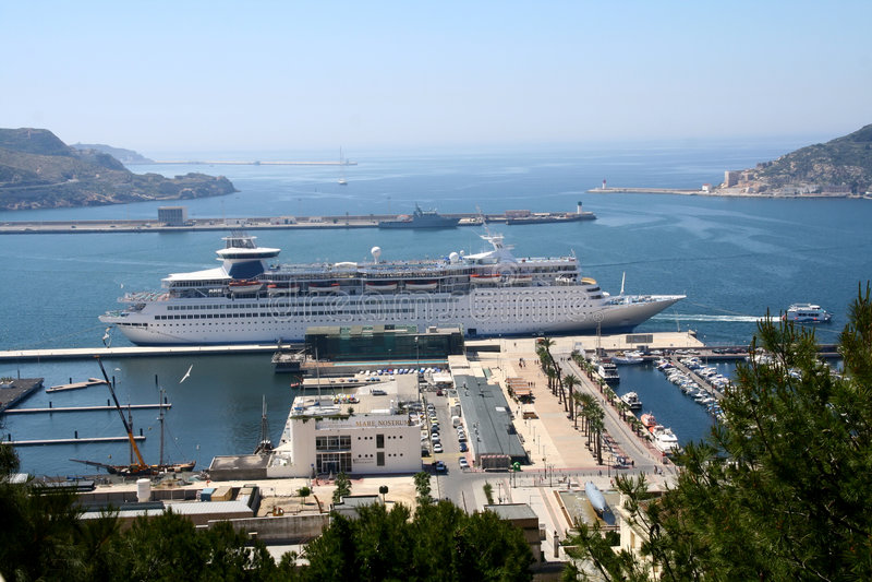 Port of cartagena stock photography