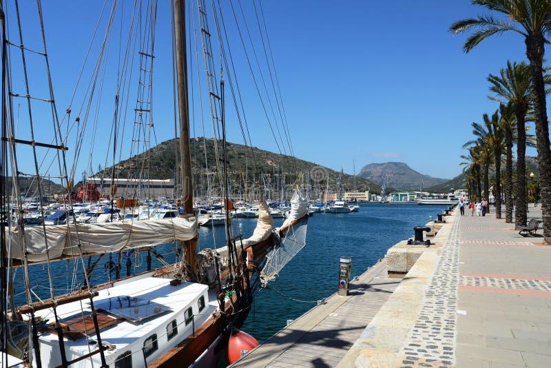 Port Cartagena, Hiszpania zdjęcie royalty free