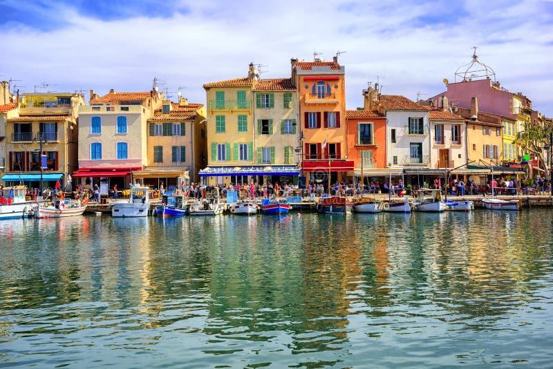 Port Cassis stary miasteczko, Provence, Francja fotografia stock