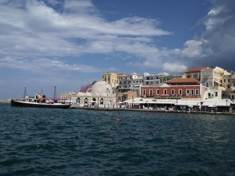 Port in Chania royalty free stock photo