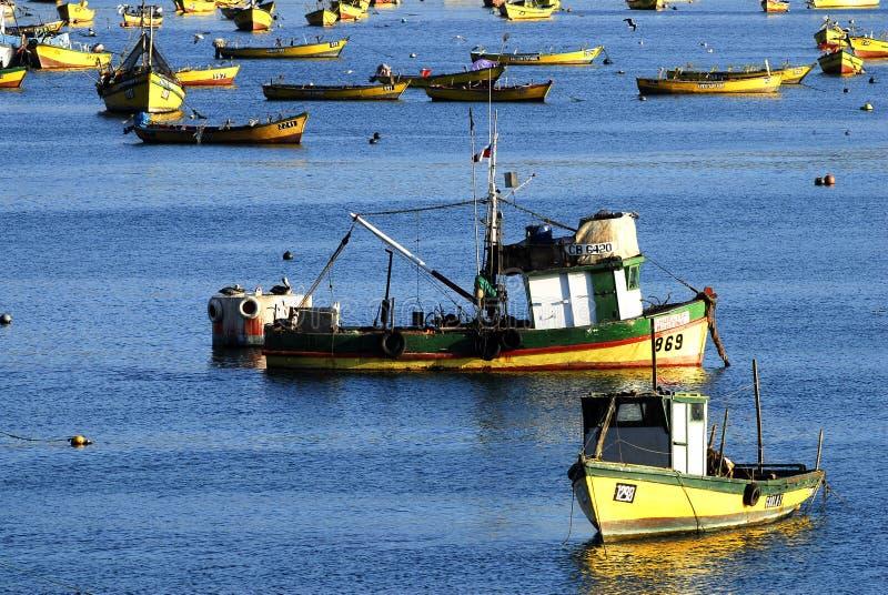 Port chilien photo stock