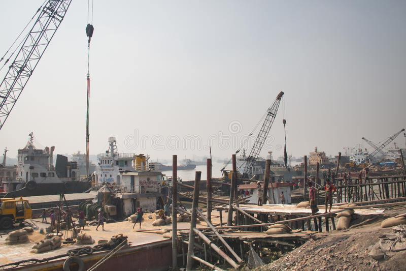 Port Chittagong, Bangladesz obraz royalty free