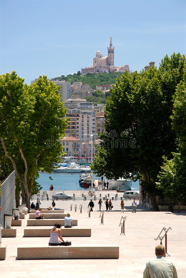 Port and city of Marseille stock photos