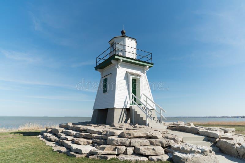 Port Clinton Lighthouse royaltyfri fotografi