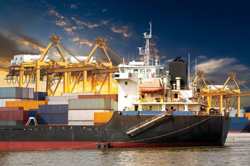 Port commercial photographie stock libre de droits