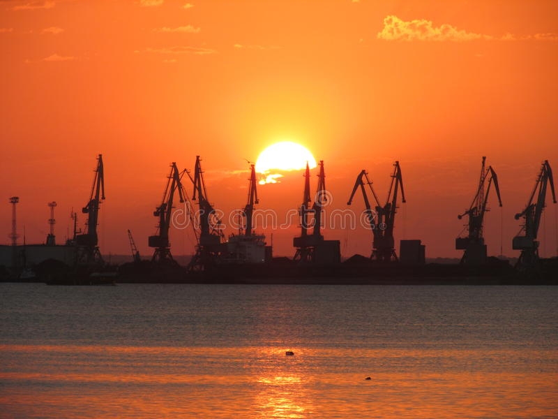 Port commercial image stock