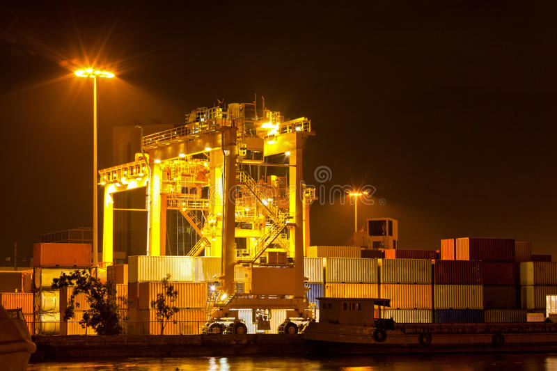Port commercial de conteneur photos libres de droits