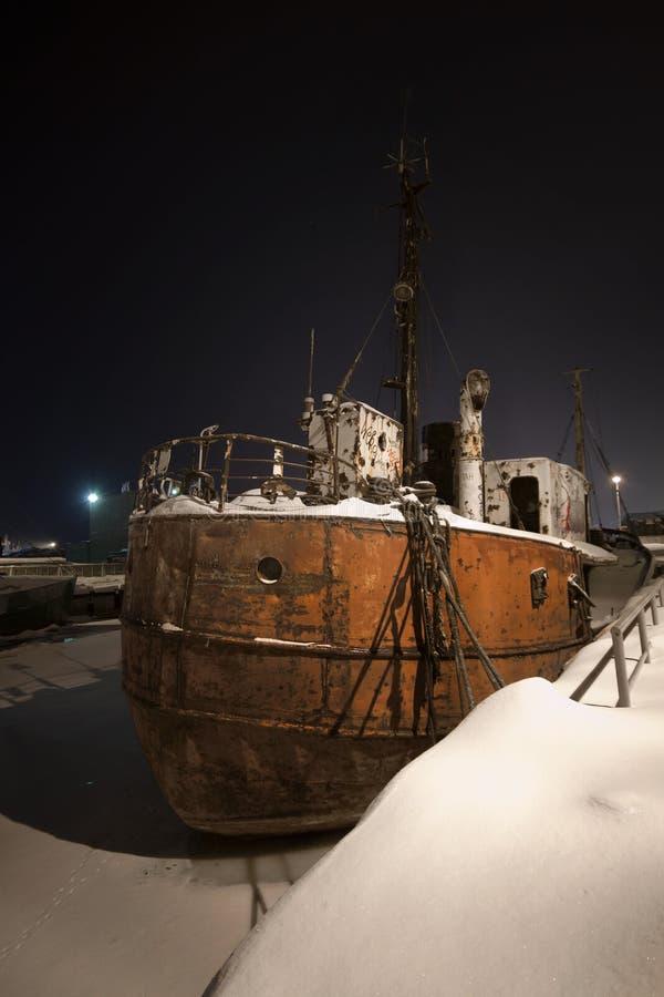 Port congelé images libres de droits