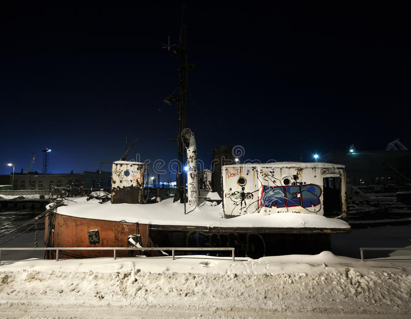 Port congelé photo libre de droits