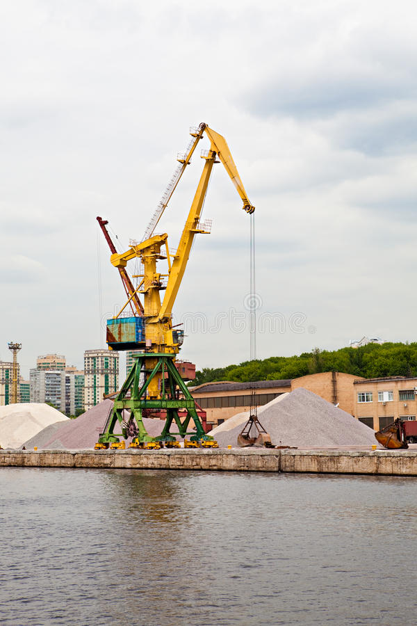 Download Port crane stock photo. Image of quay, harbor, load, crane - 14739624