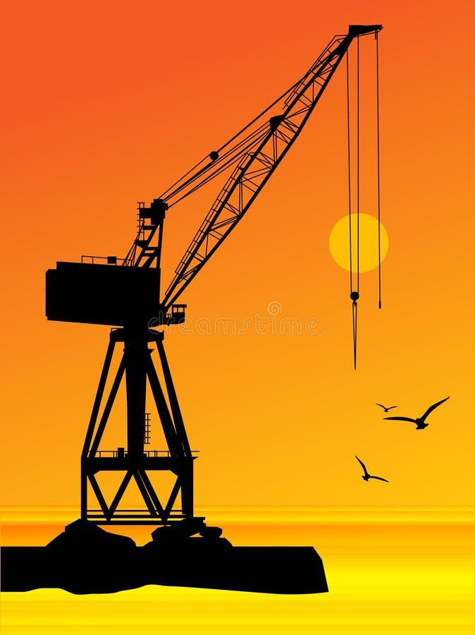 Port crane royalty free illustration