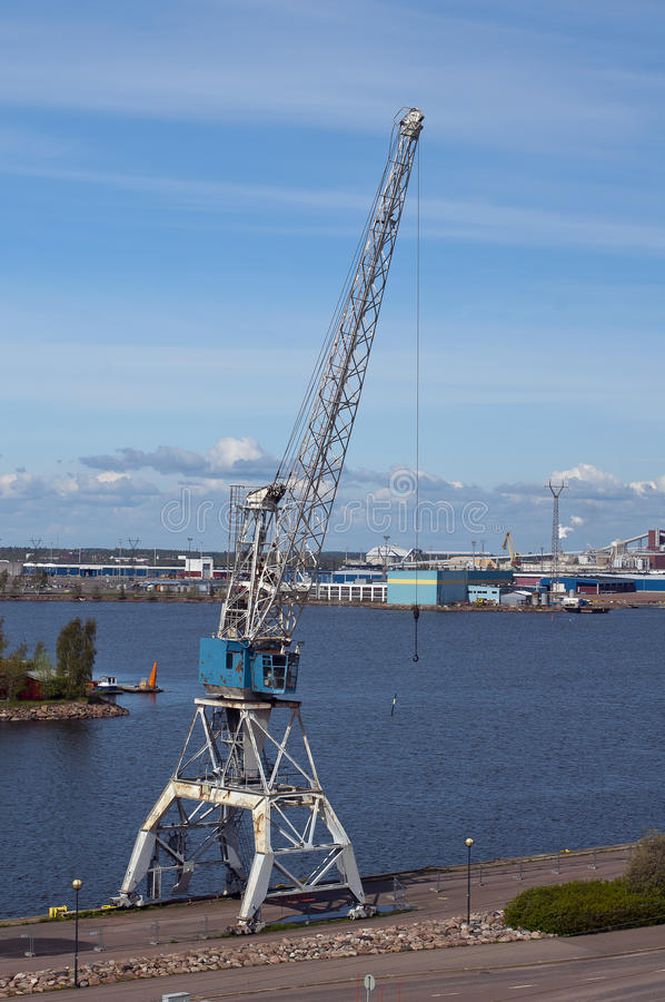 Download Port crane stock photo. Image of arrow, rail�, gulf, finland - 28839832