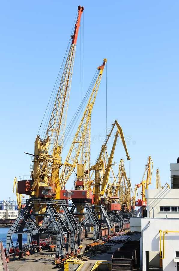 Download Port with cranes stock photo. Image of heavy, logistics - 14248526