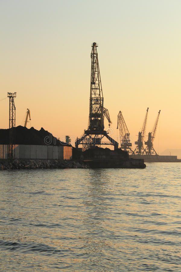Download Port Cranes Stock Photo - Image: 21733500