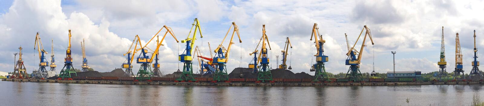 Download Port With Cranes Stock Image - Image: 23675821