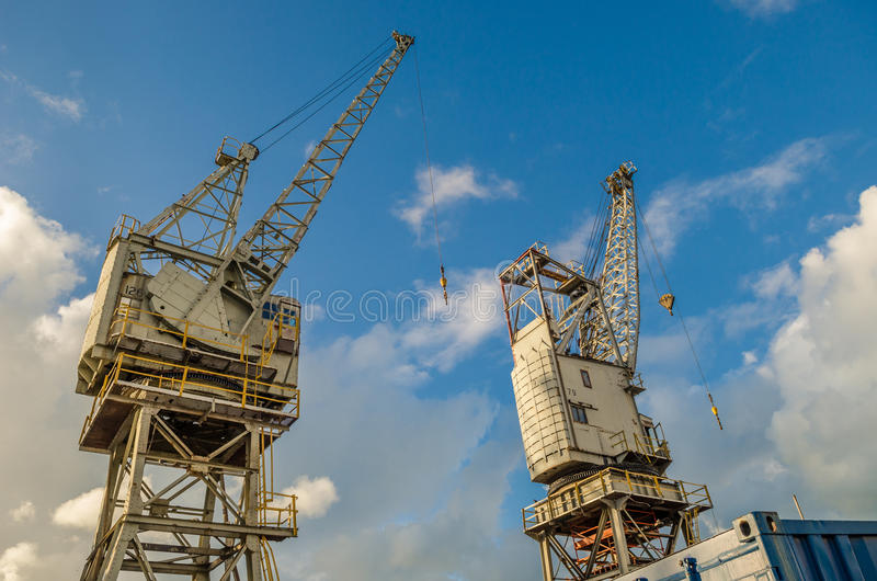 Port cranes Cape town stock images