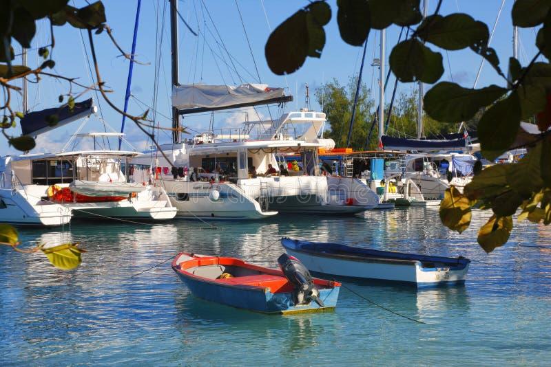Port d'île de Digue de La photos libres de droits