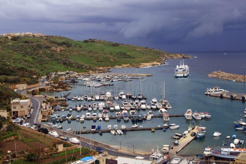 Port d'île de Gozo à Malte photo stock