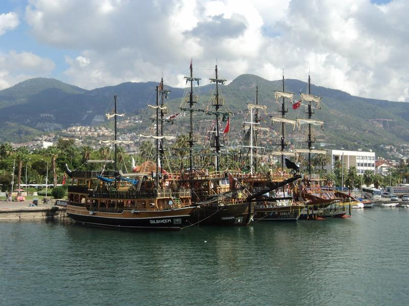 Port d'Alanya La Turquie photo stock