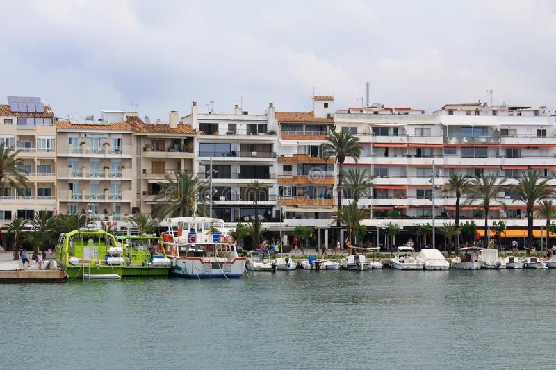 Port d`Alcúdia, in Mallorca. Alcúdia is a municipality and township of the Spanish autonomous community of the Balearic Islands. It is the main tourist stock photography