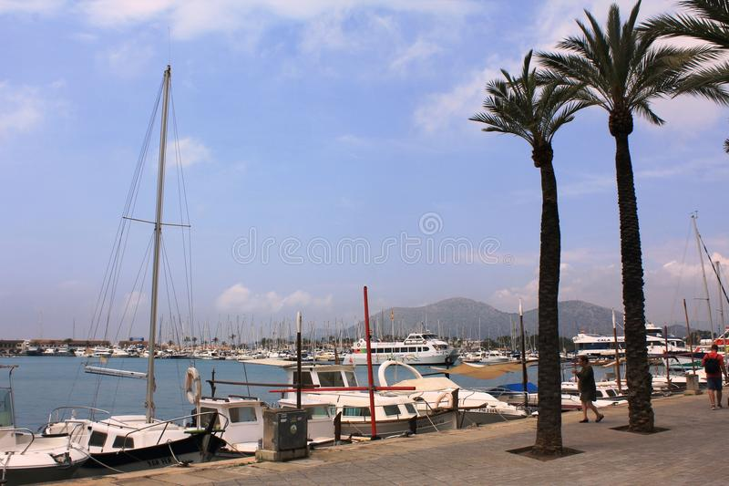 Port d`Alcúdia, in Mallorca. Alcúdia is a municipality and township of the Spanish autonomous community of the Balearic Islands. It is the main tourist royalty free stock photos