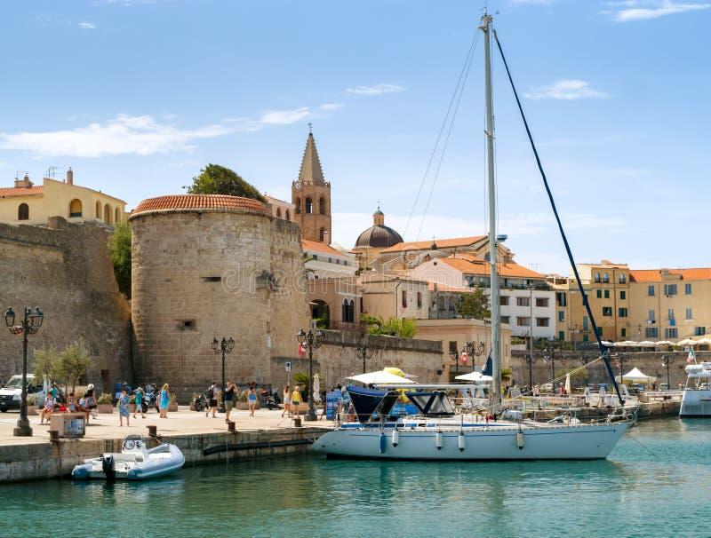 Port d'Alghero photos stock