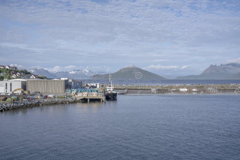 Port d'Andenes, Norvège images stock