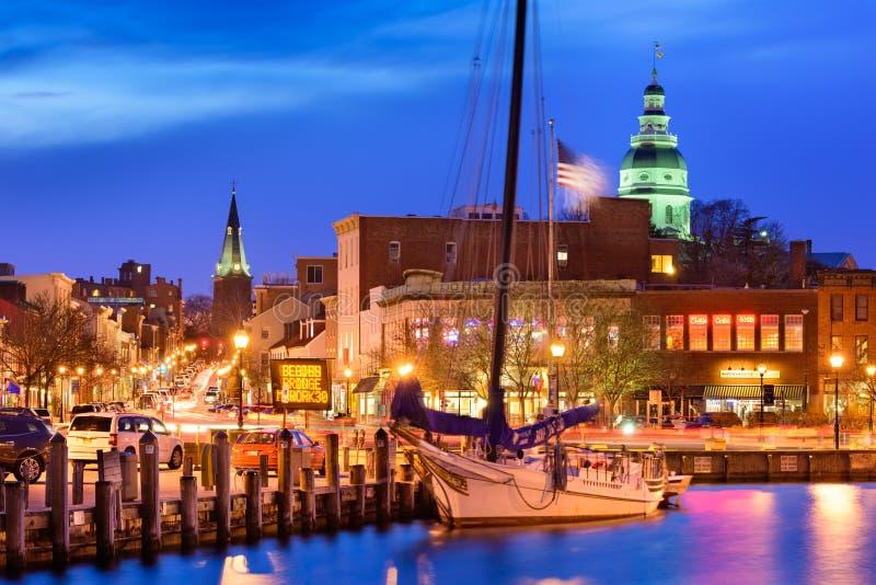 Port d'Annapolis le Maryland photographie stock libre de droits