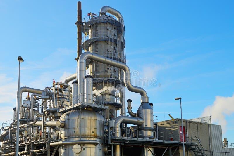 Port d'arrivée ou de départ pour le pétrole à Rotterdam images stock