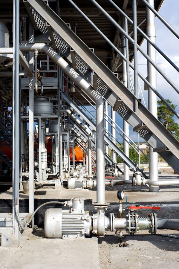 Port d'arrivée ou de départ pour le pétrole photo libre de droits