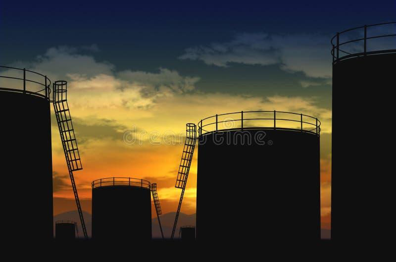 Port d'arrivée ou de départ pour le pétrole images stock