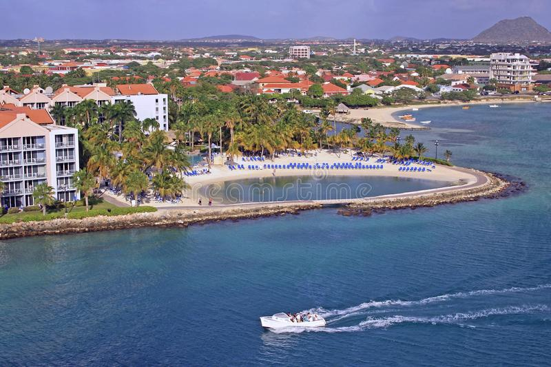 Port d'Aruba, des Caraïbes images libres de droits