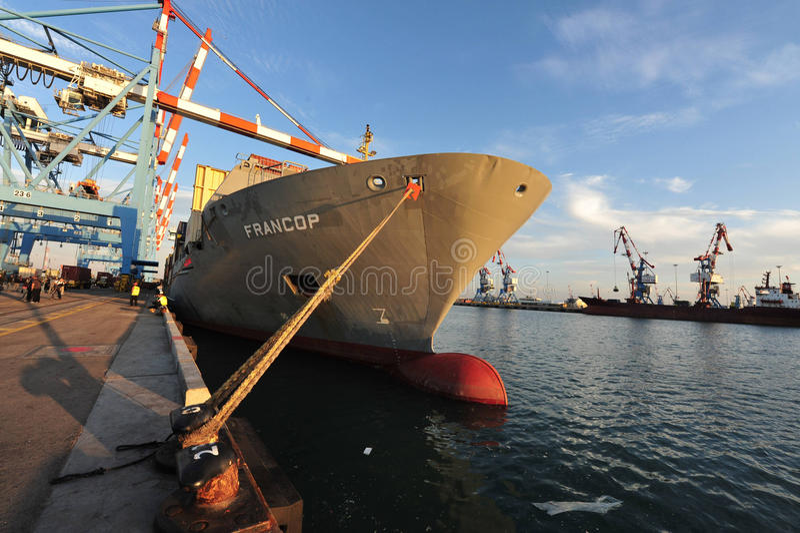 Port d'Ashdod - l'Israël image stock